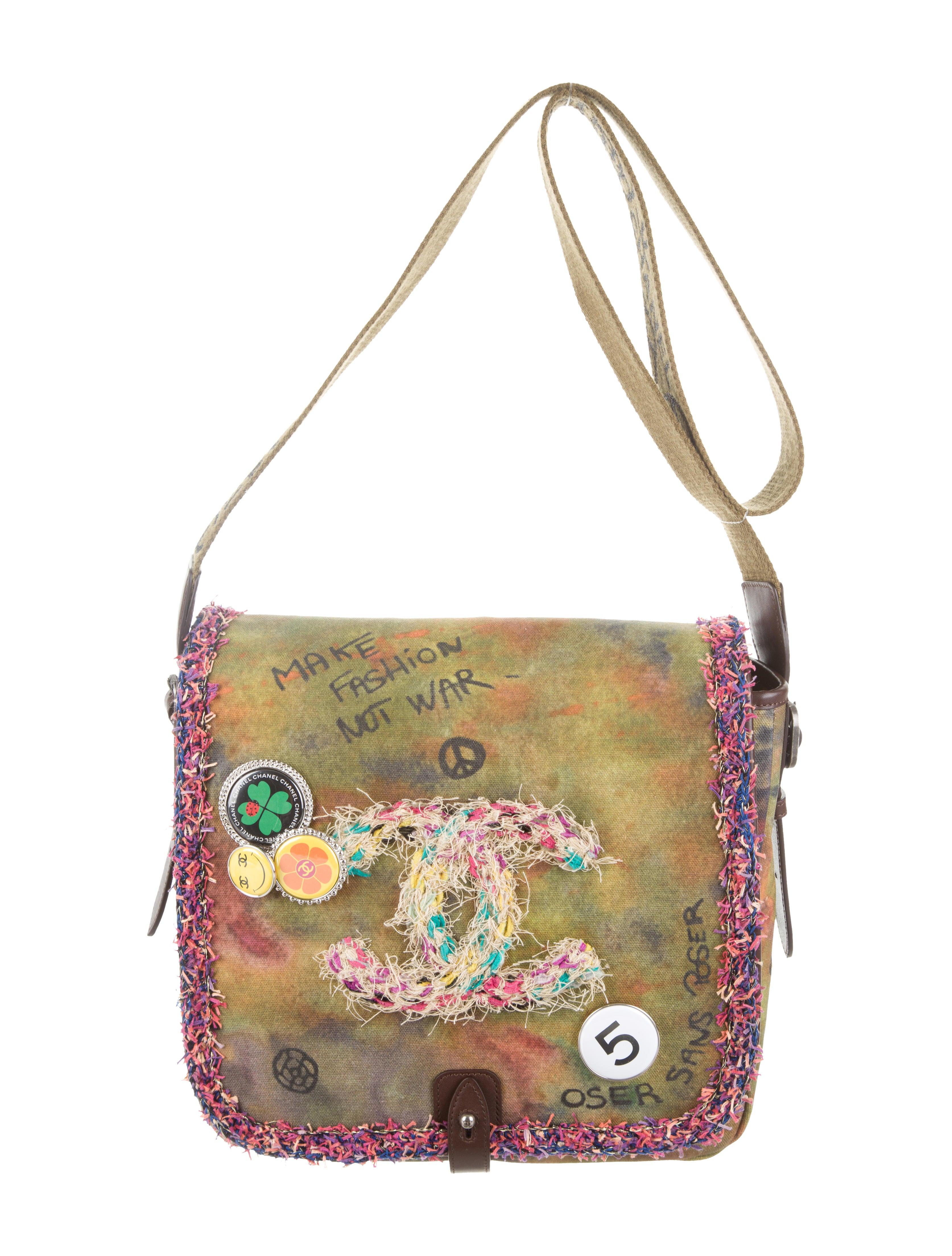 7be1789f2 Chanel Graffiti On the Pavements Messenger Bag - Handbags - CHA80800 ...