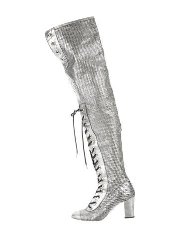 Over-The Knee Laser Cut Boots