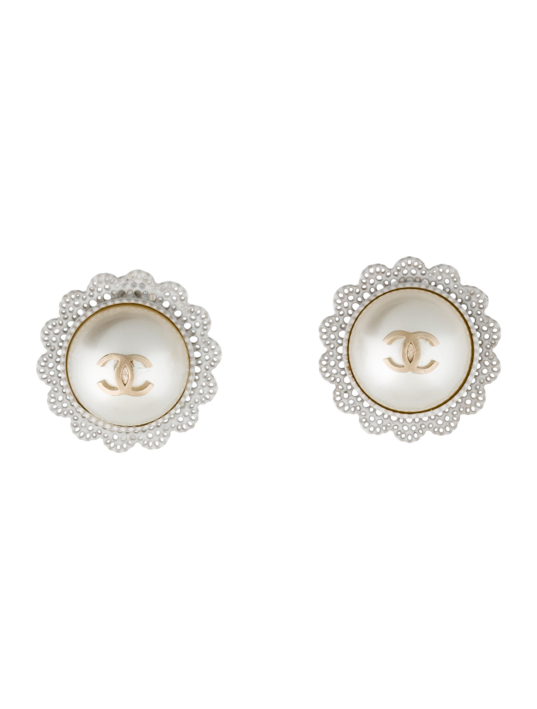 spade earrings white stud in cueva rosa lyst kate pearl new product york gallery jewelry normal faux