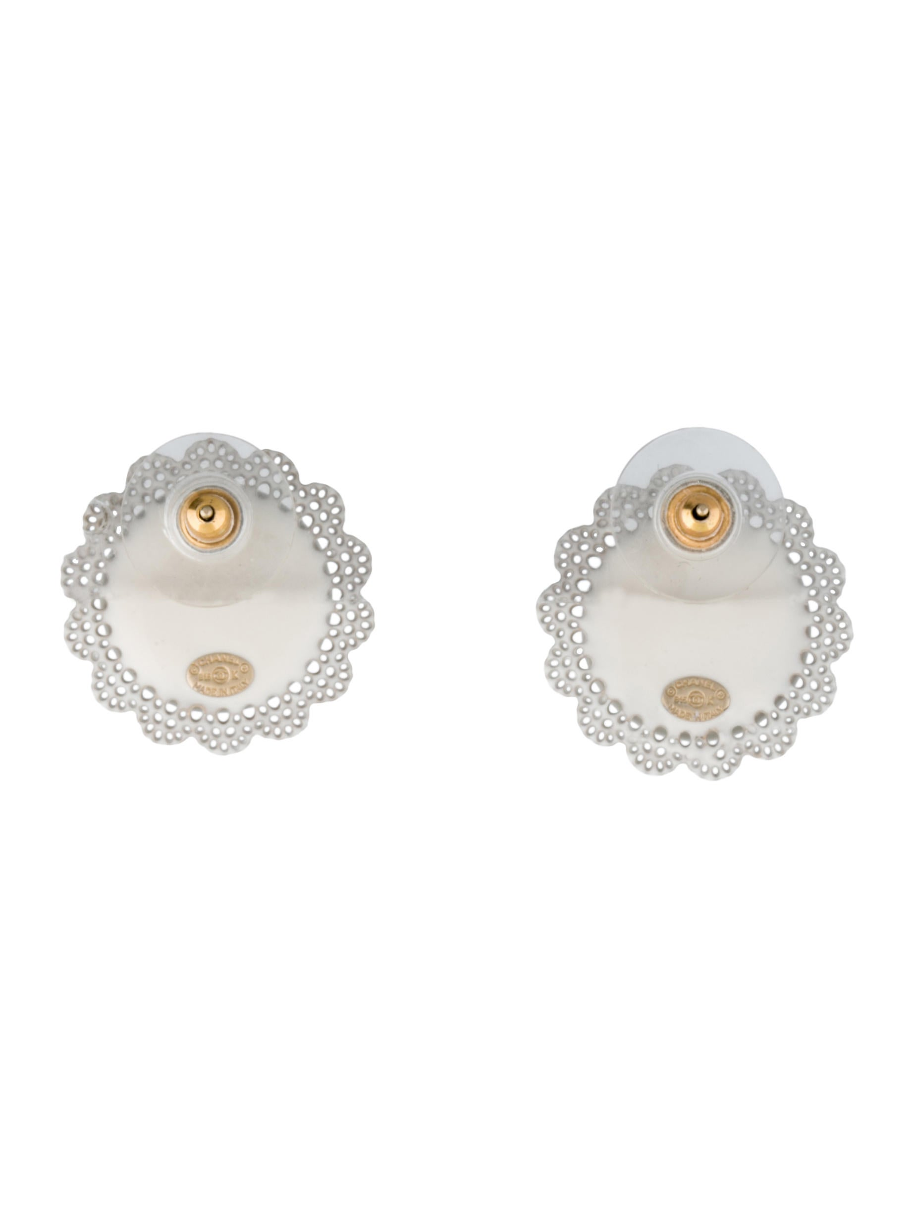 nadri de renta la oscar gold l stud fake in faux pearl earrings