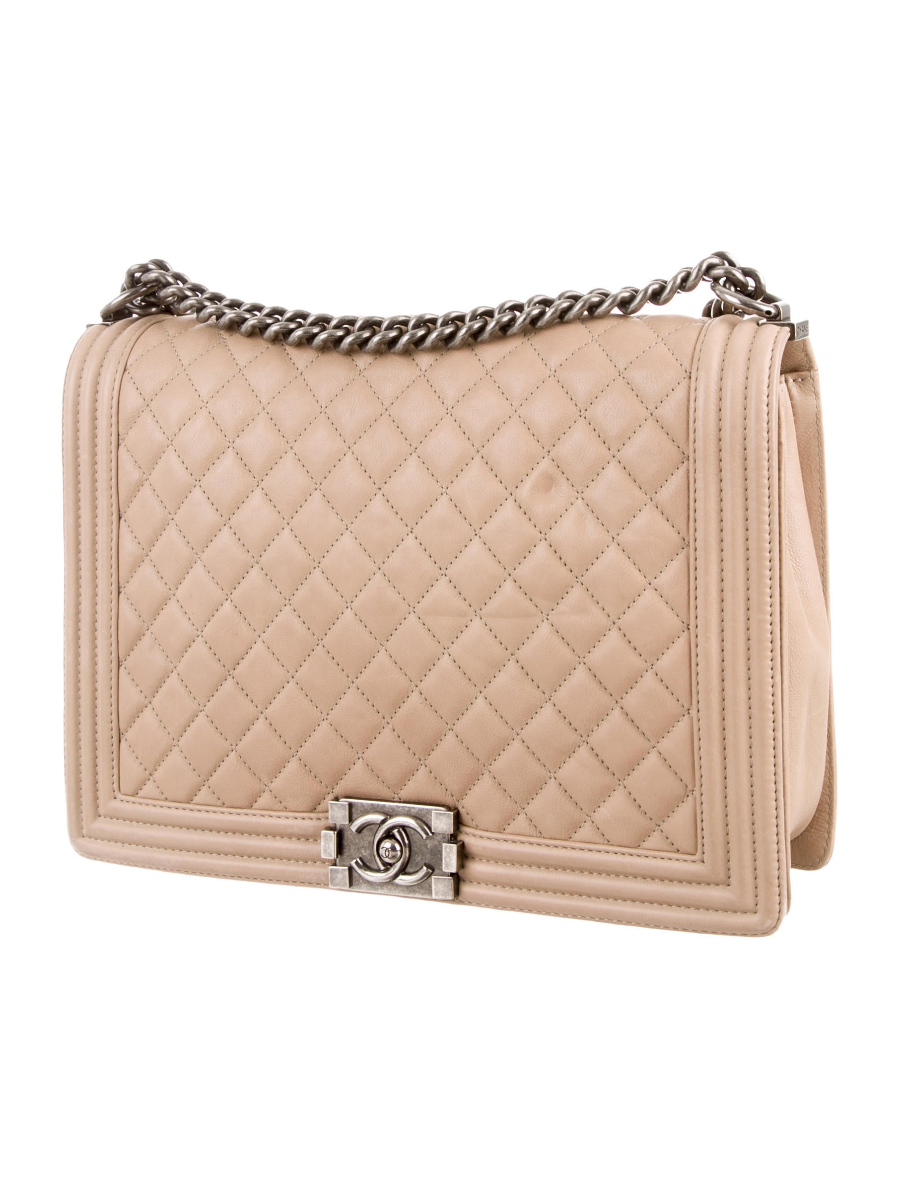 Chanel Large Quilted Boy Bag - Handbags - CHA83726