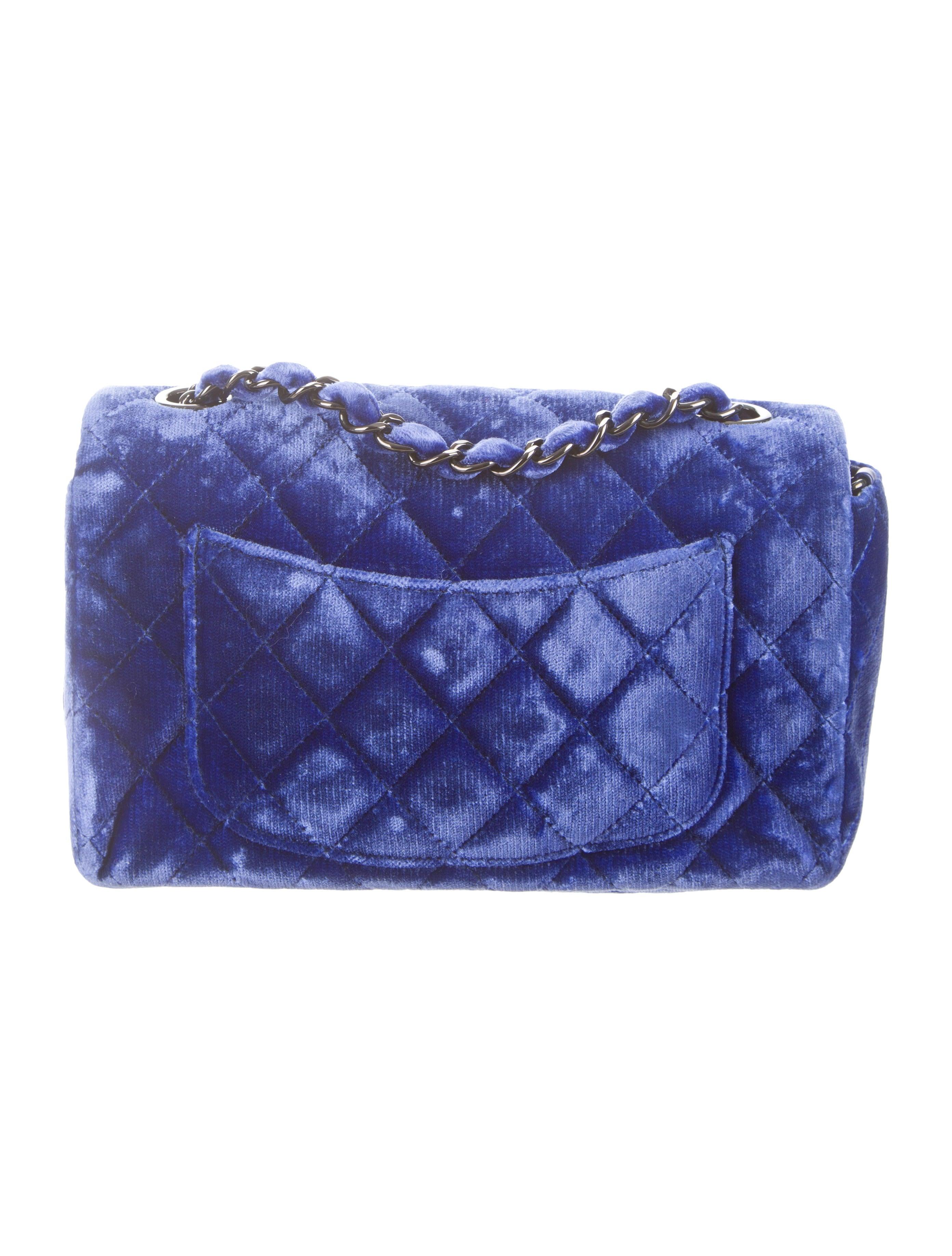 Chanel Velvet Quilted Mini Flap Bag Handbags Cha84195