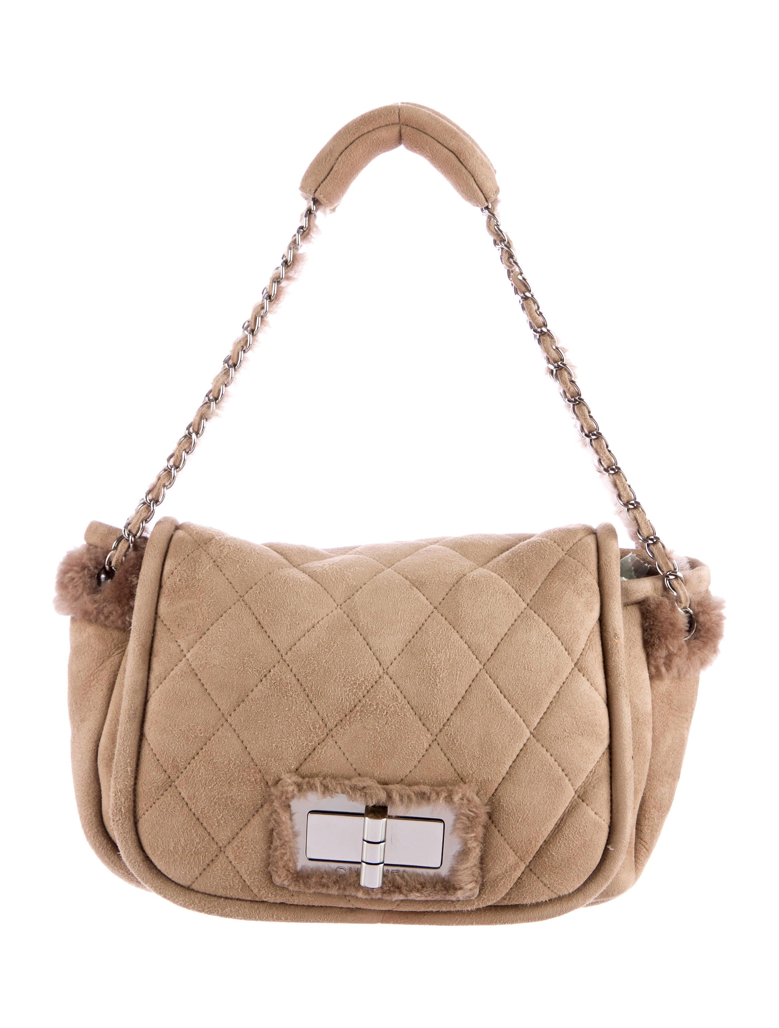 c355bea2cdfc98 Chanel Shearling Flap Bag - Handbags - CHA84241 | The RealReal