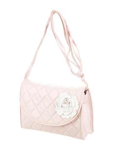 Quilted Camellia Crossbody Bag
