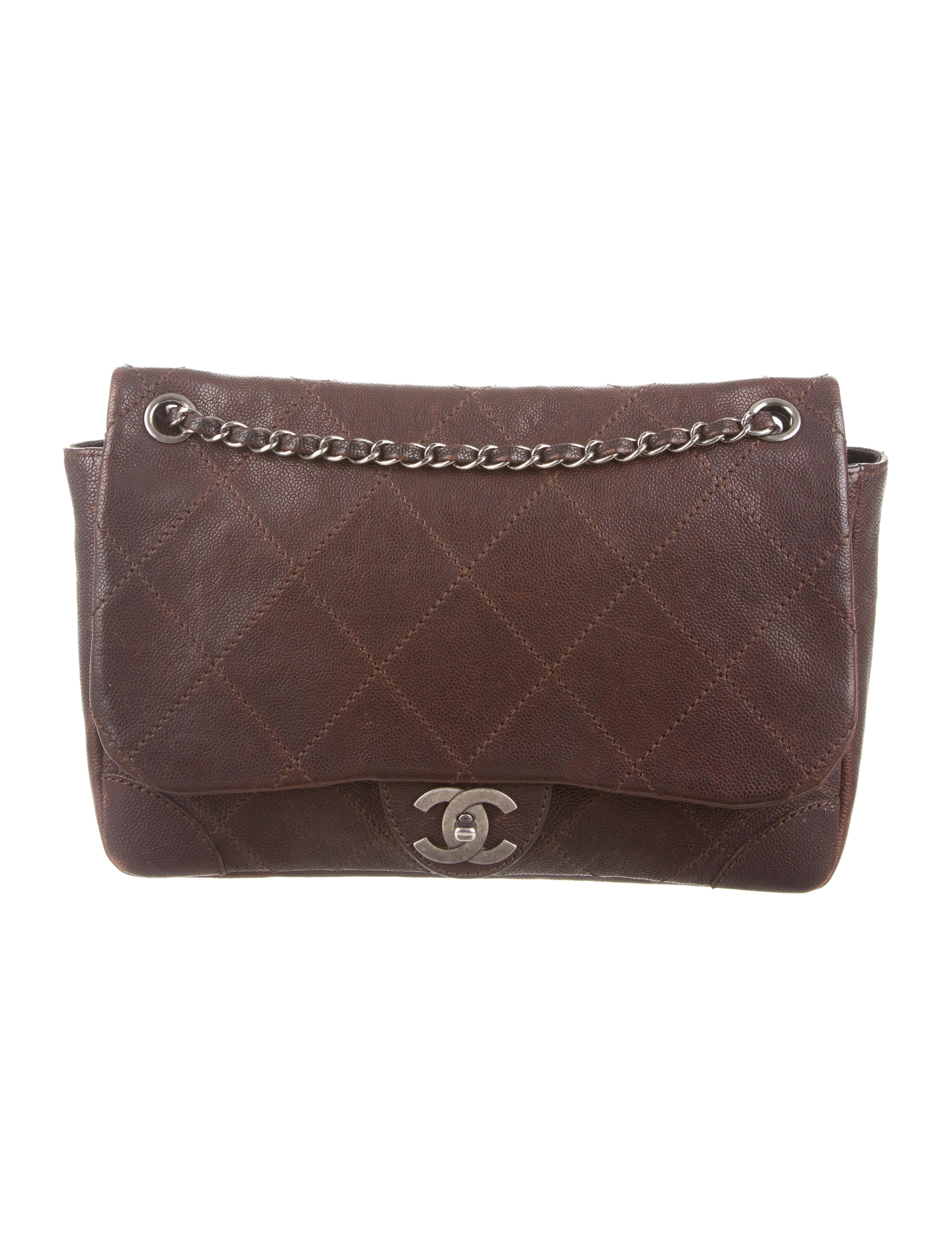 8c33f22503edbc Chanel Quilted Caviar Outdoor Ligne Flap Bag - Handbags - CHA87774 ...