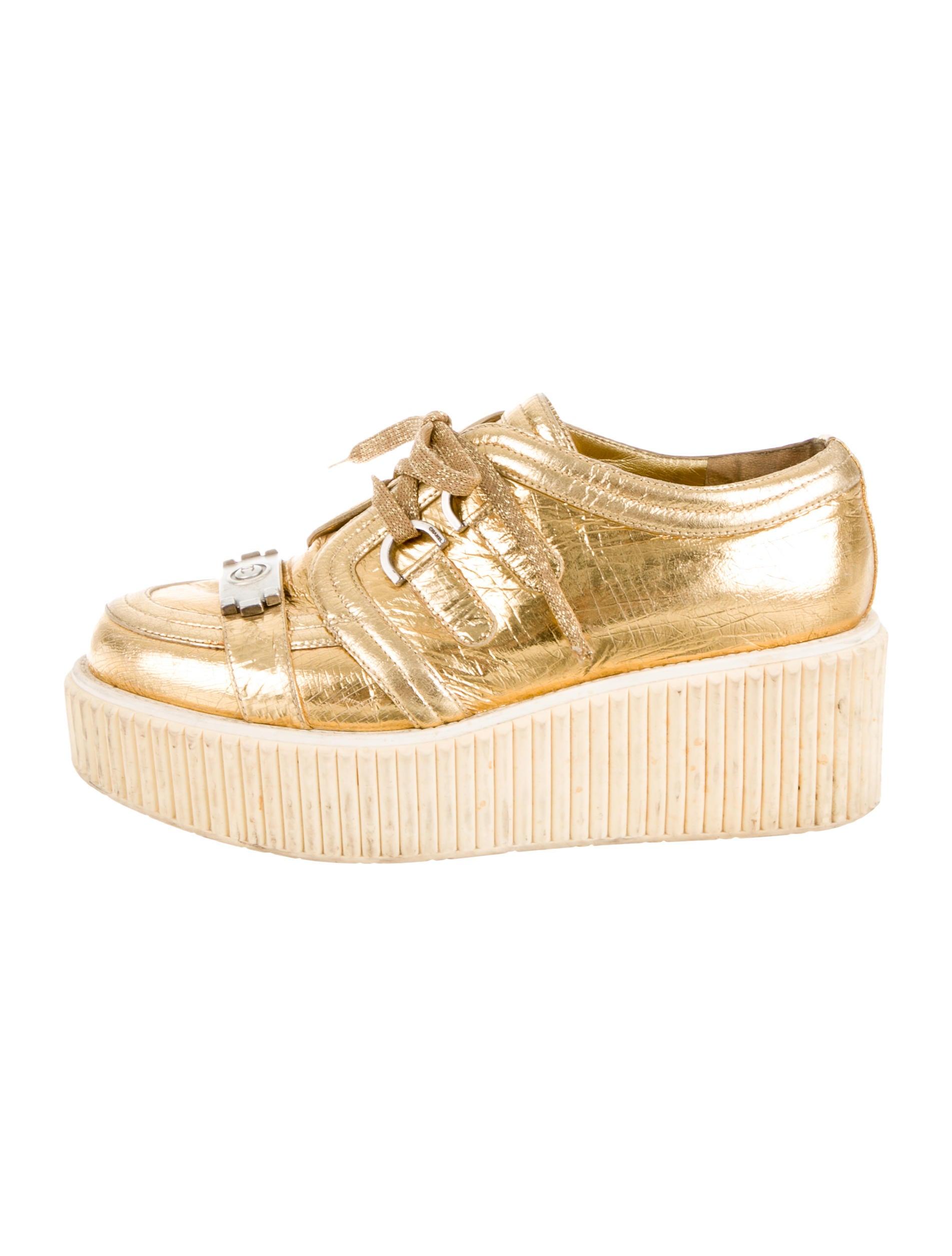 a974d59e32e Chanel Lamé Boy Creepers - Shoes - CHA88025