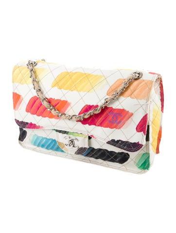 Colorama Watercolor Canvas Flap Bag