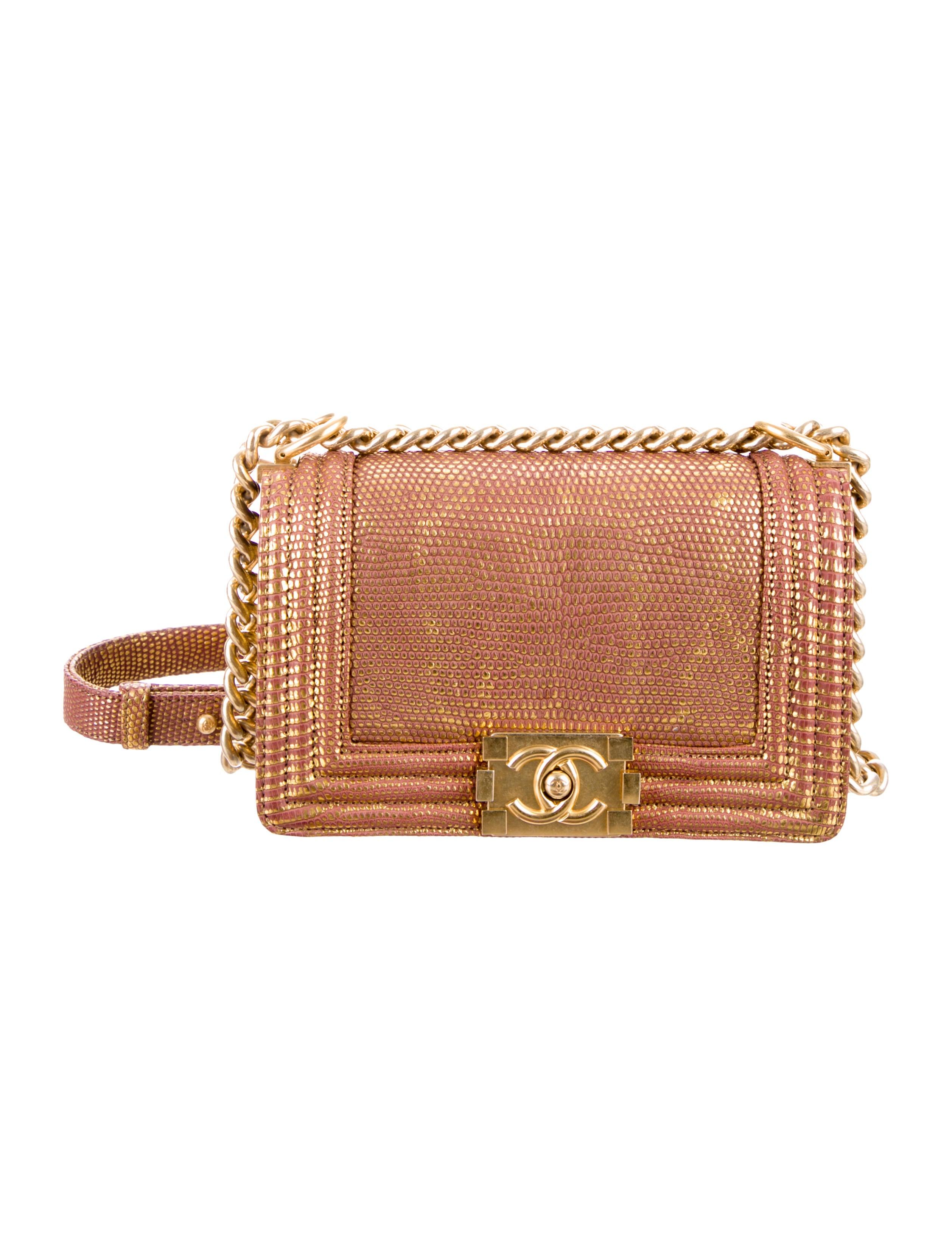 Chanel Small Lizard Boy Bag Handbags Cha91981 The
