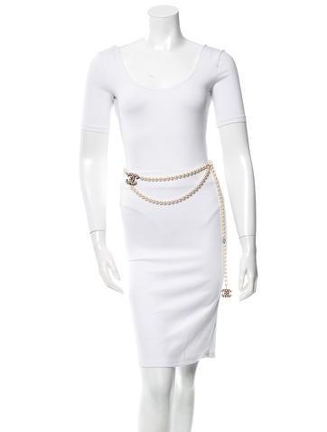 Logo Pearl Waist Belt