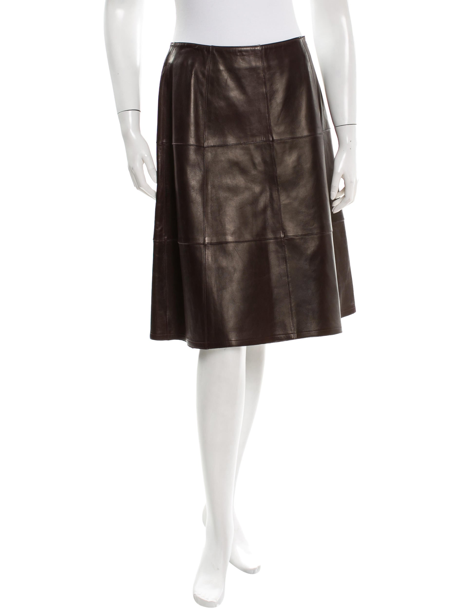 chanel leather a line skirt clothing cha92924 the