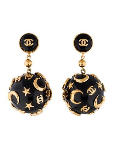 Star and Moon Drop Earrings