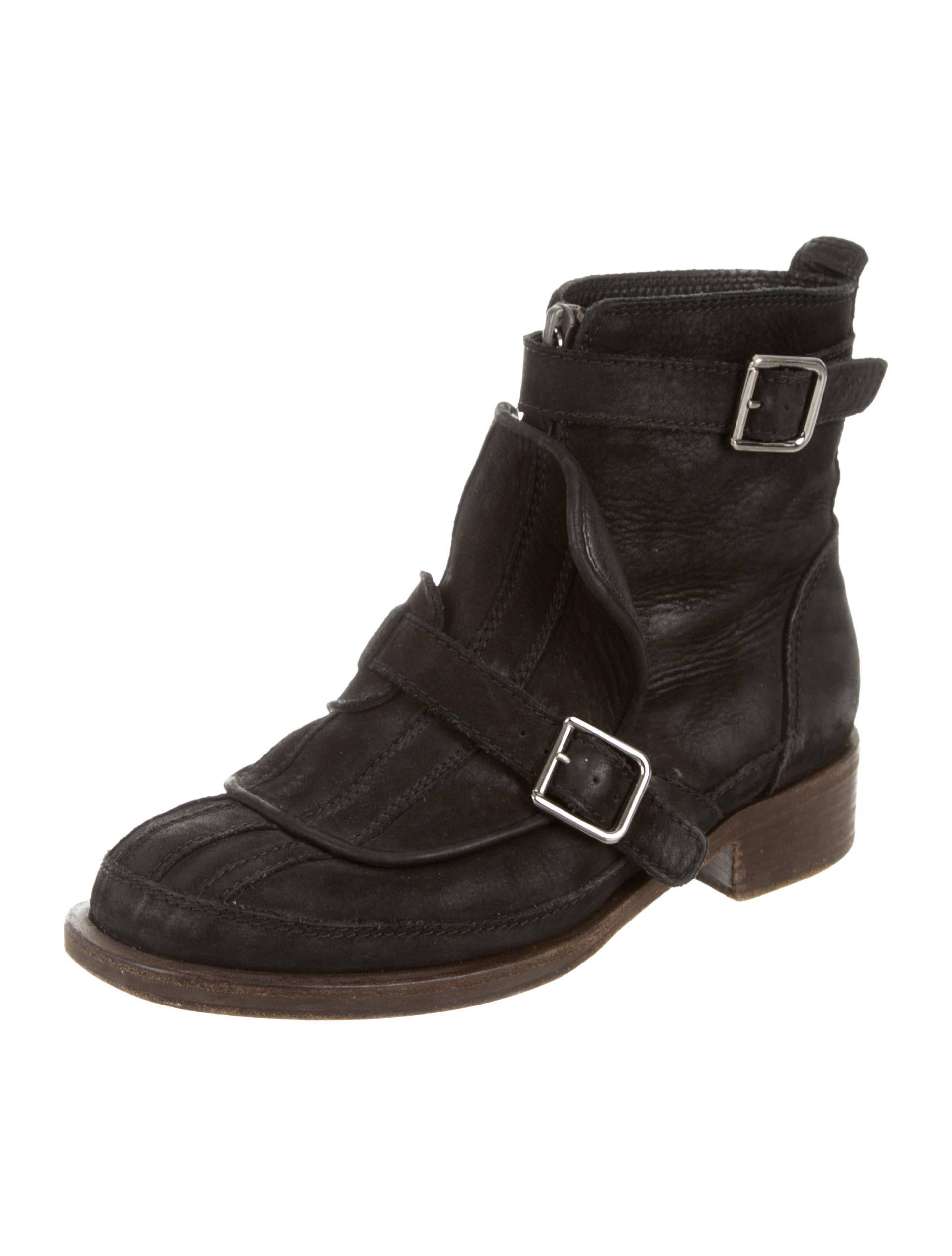 chanel suede toe ankle boots shoes cha93372