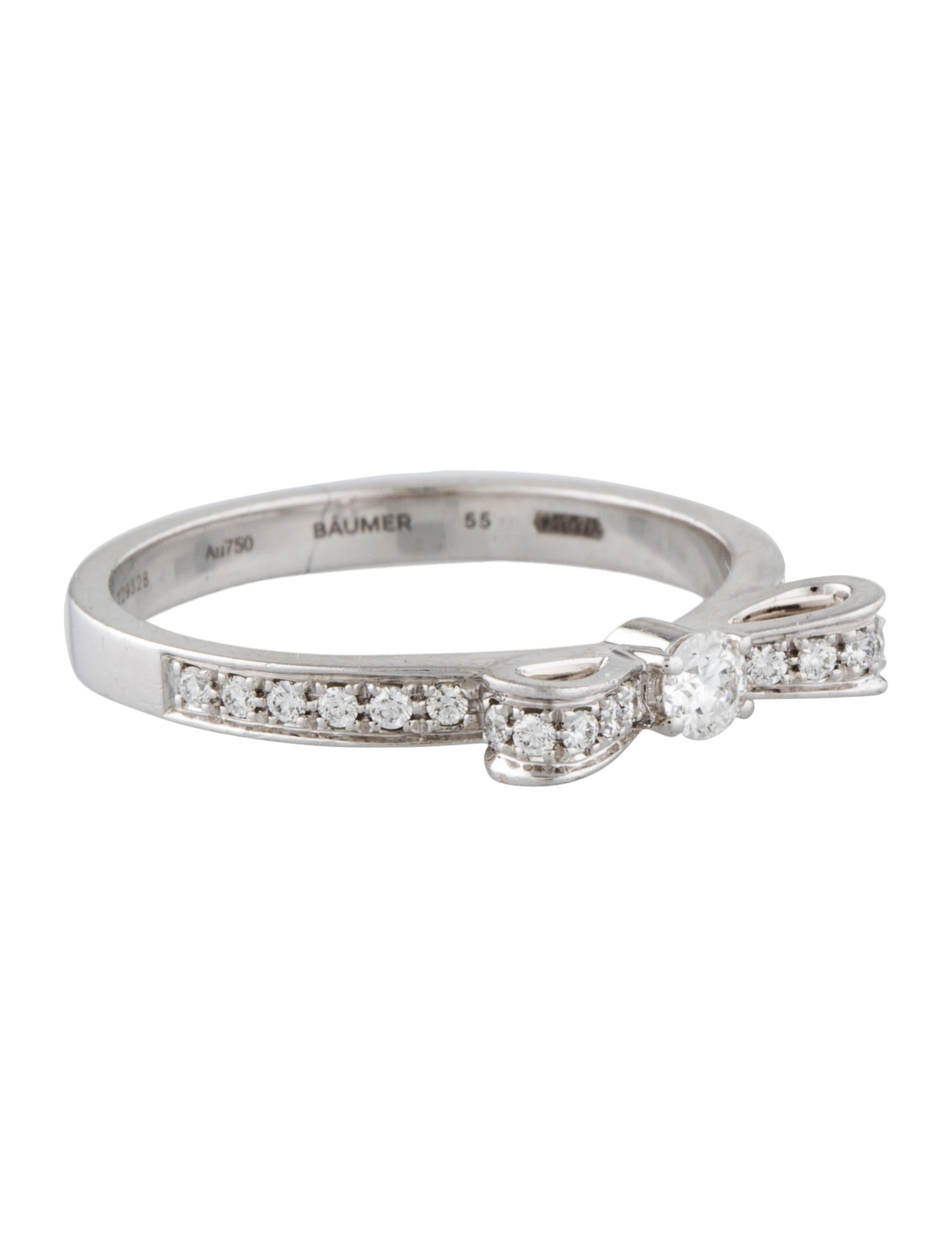 Chanel Diamond Bow Ring Rings CHA