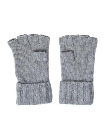 Chanel Embellished Cashmere Fingerless Gloves ...