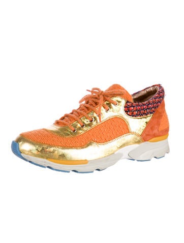 Metallic Bouclé Sneakers