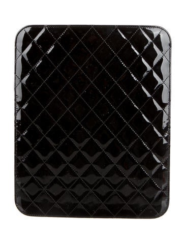 Quilted Patent Leather iPad Case