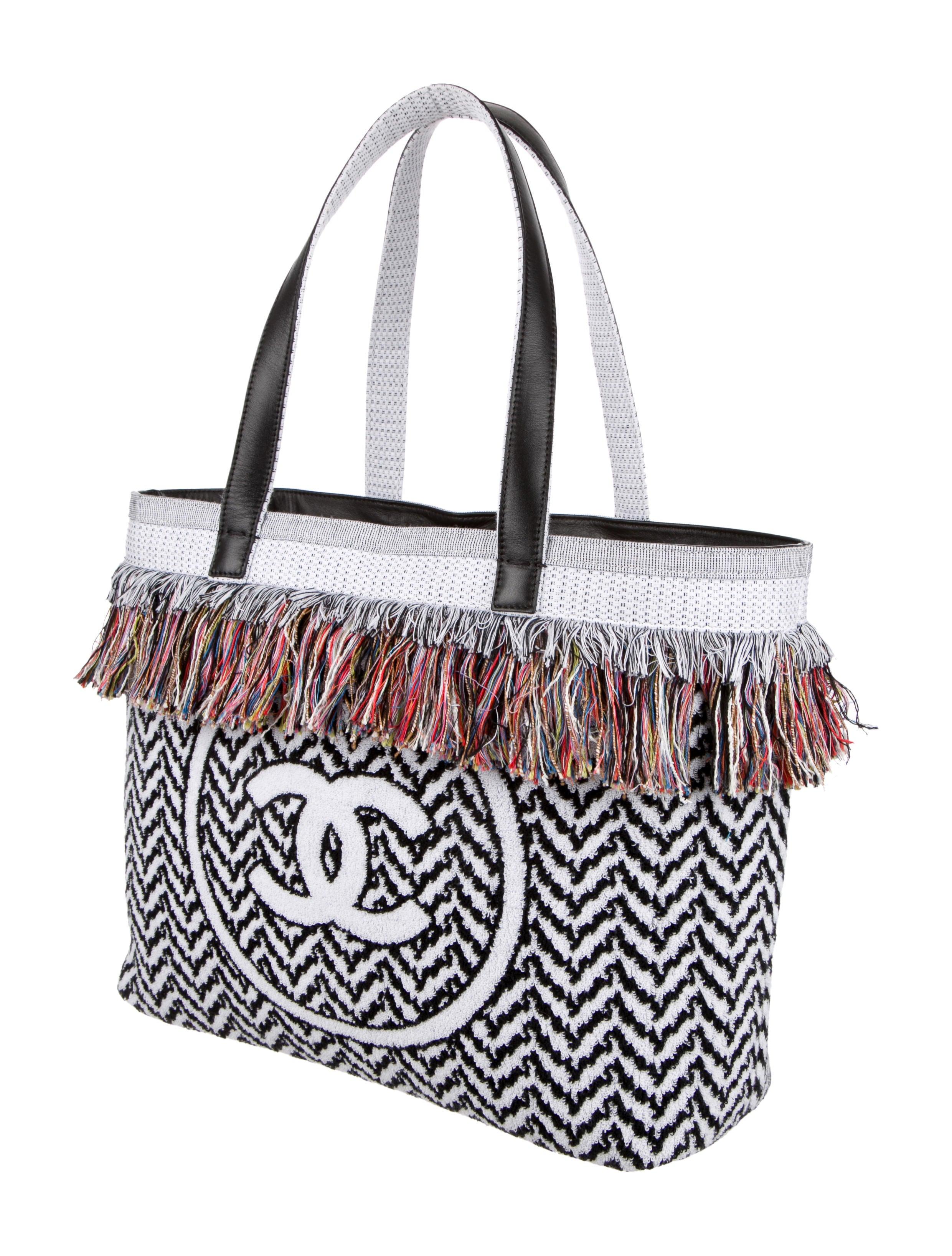 Chanel Extraordinary Fringe Beach Tote - Handbags - CHA96227 | The ...
