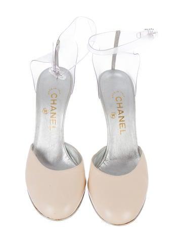 Lucite & Leather Sandals