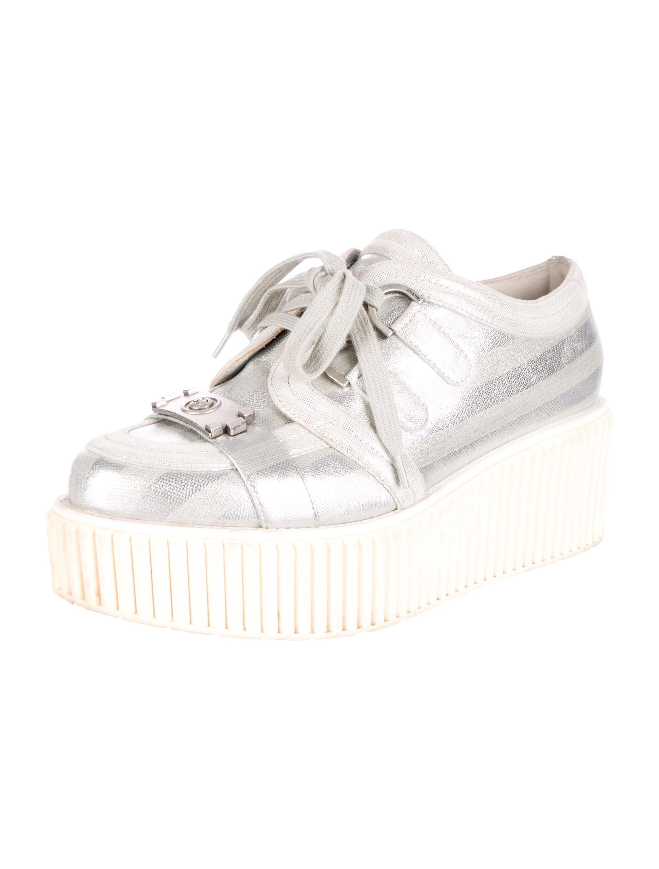 Chanel Metallic Platform Sneakers - Shoes - CHA99117 | The RealReal