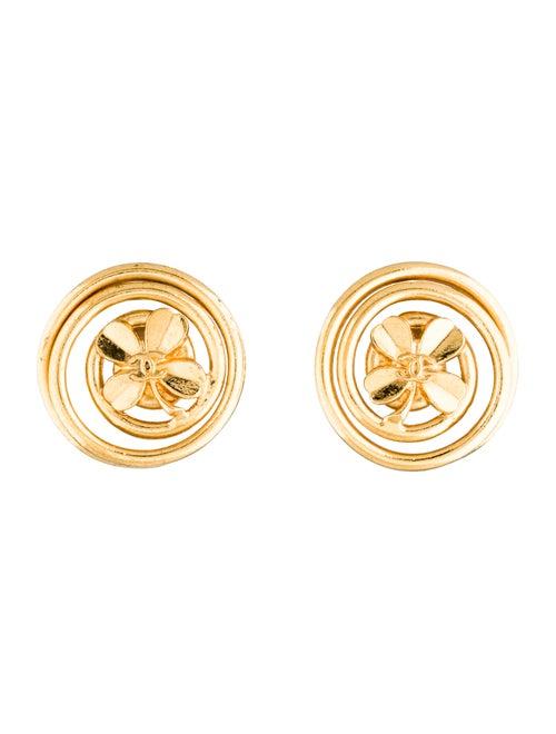 Chanel CC Clover Earrings Gold