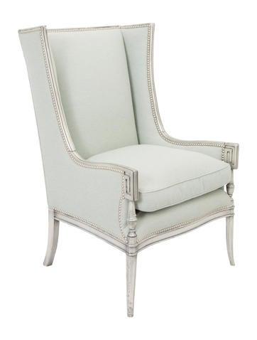 Upholstered High Back Armchair