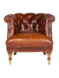 Astounding Chair Hancock Moore Tufted Leather Club Chair Furniture Creativecarmelina Interior Chair Design Creativecarmelinacom