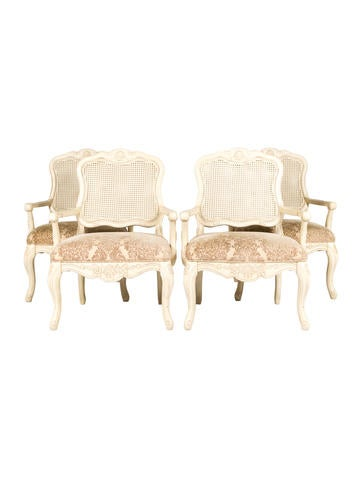 Set of Four Powell Furniture Company Jacquard Dining Chairs