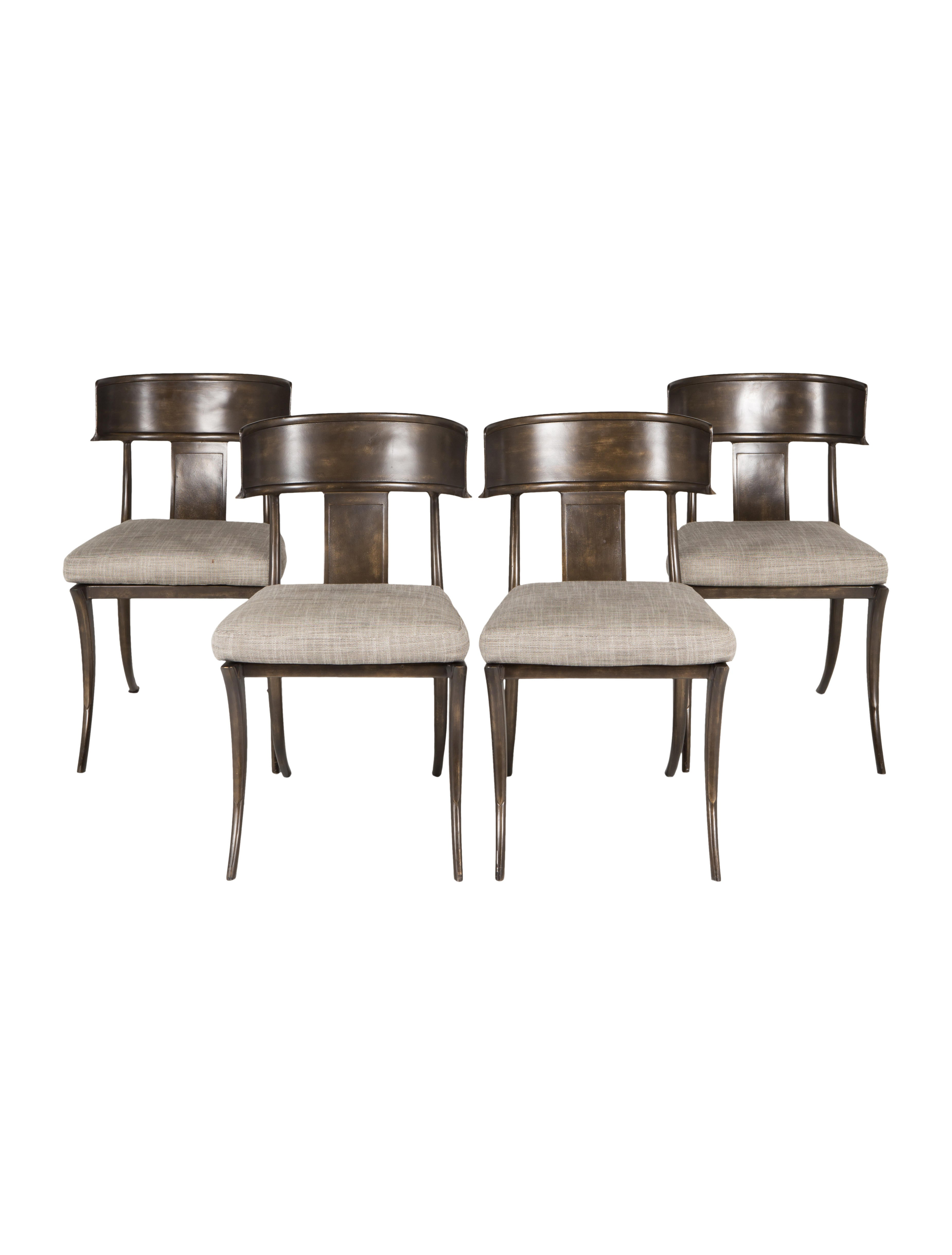 Set Of Four Michael Taylor Klismos Dining Chairs Furniture Chair20145 The Realreal