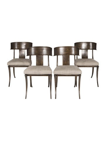 Set of Four Michael Taylor Klismos Dining Chairs