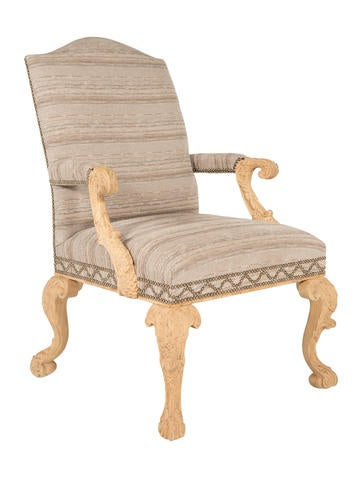 Hand-Carved George III-Style Armchair
