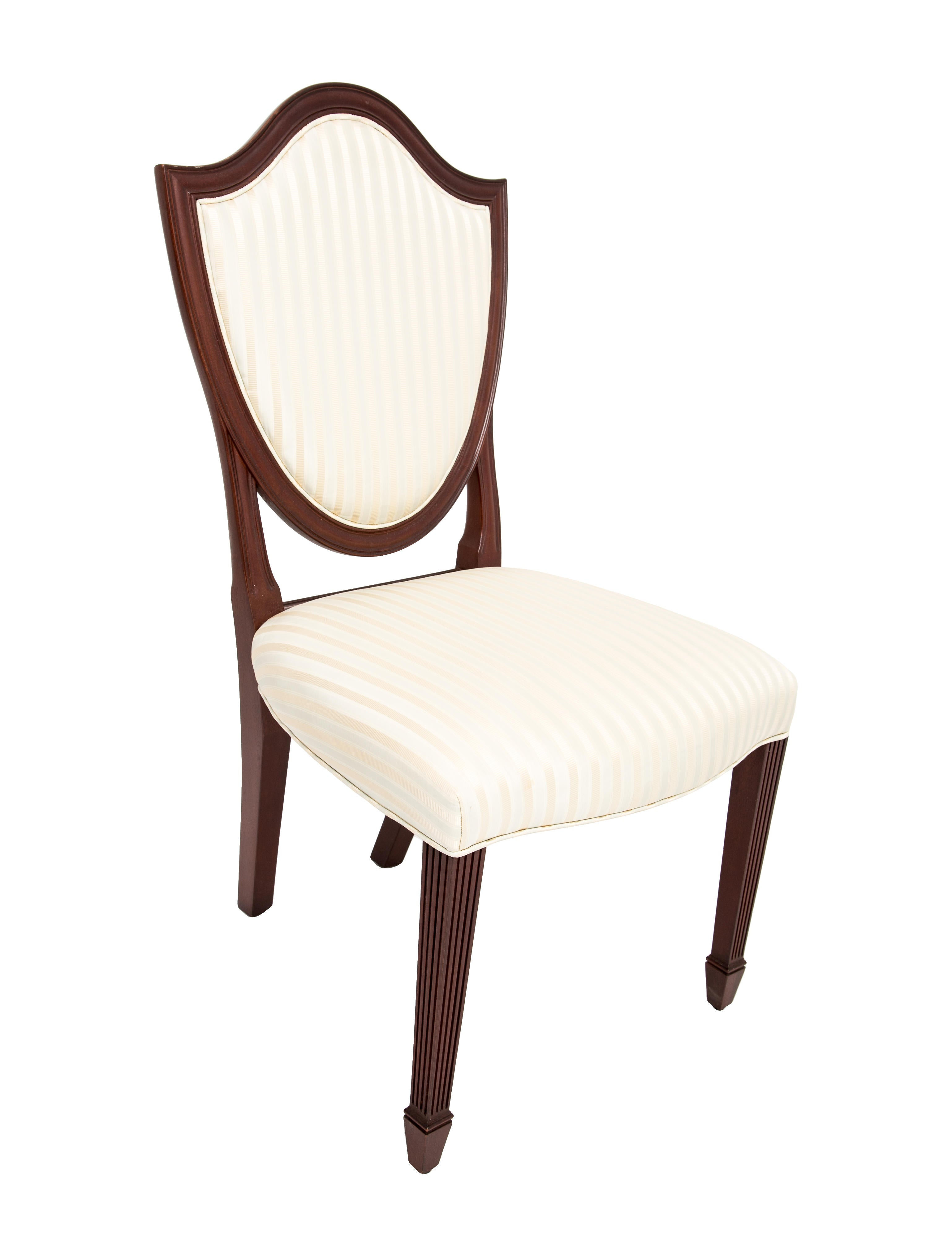 Baker satin shield back dining chairs furniture for Chair 6 mt baker