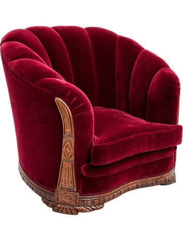 Art Deco Shell-Back Armchair