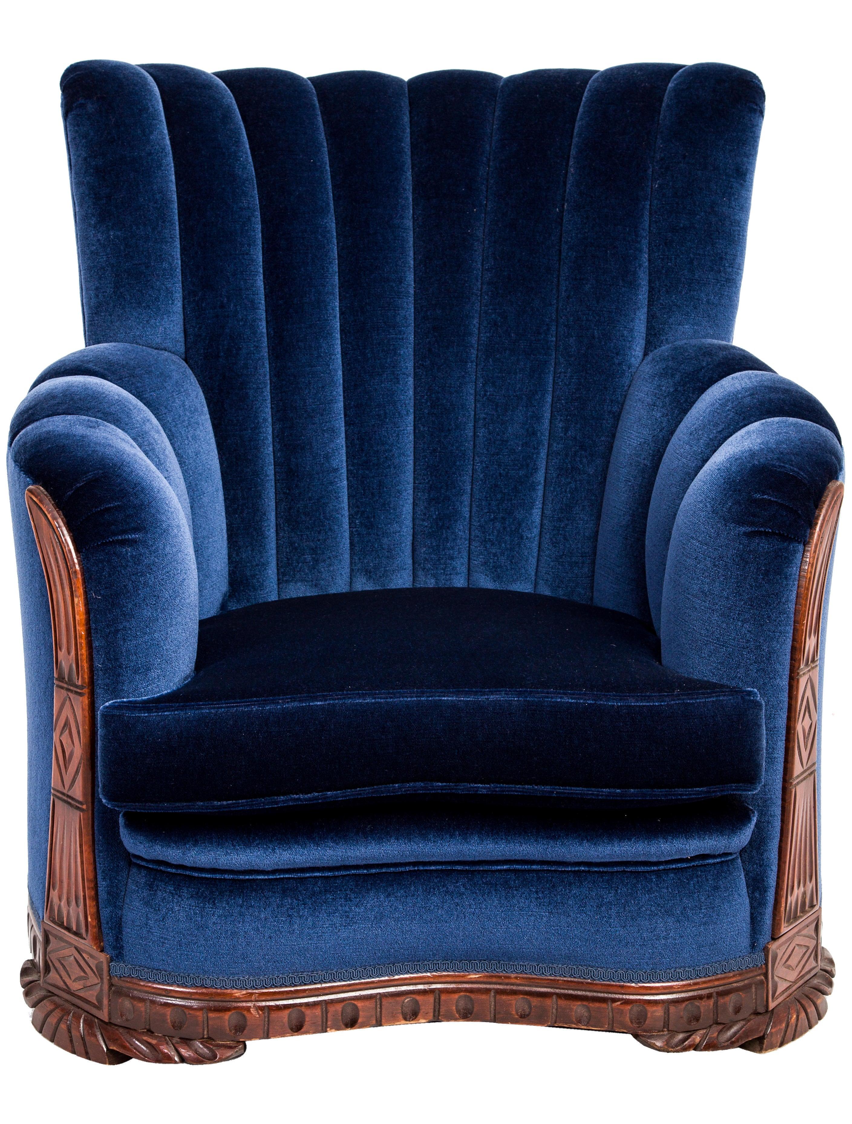 Art Deco Shell-Back Armchair - Furniture - CHAIR20175 ...