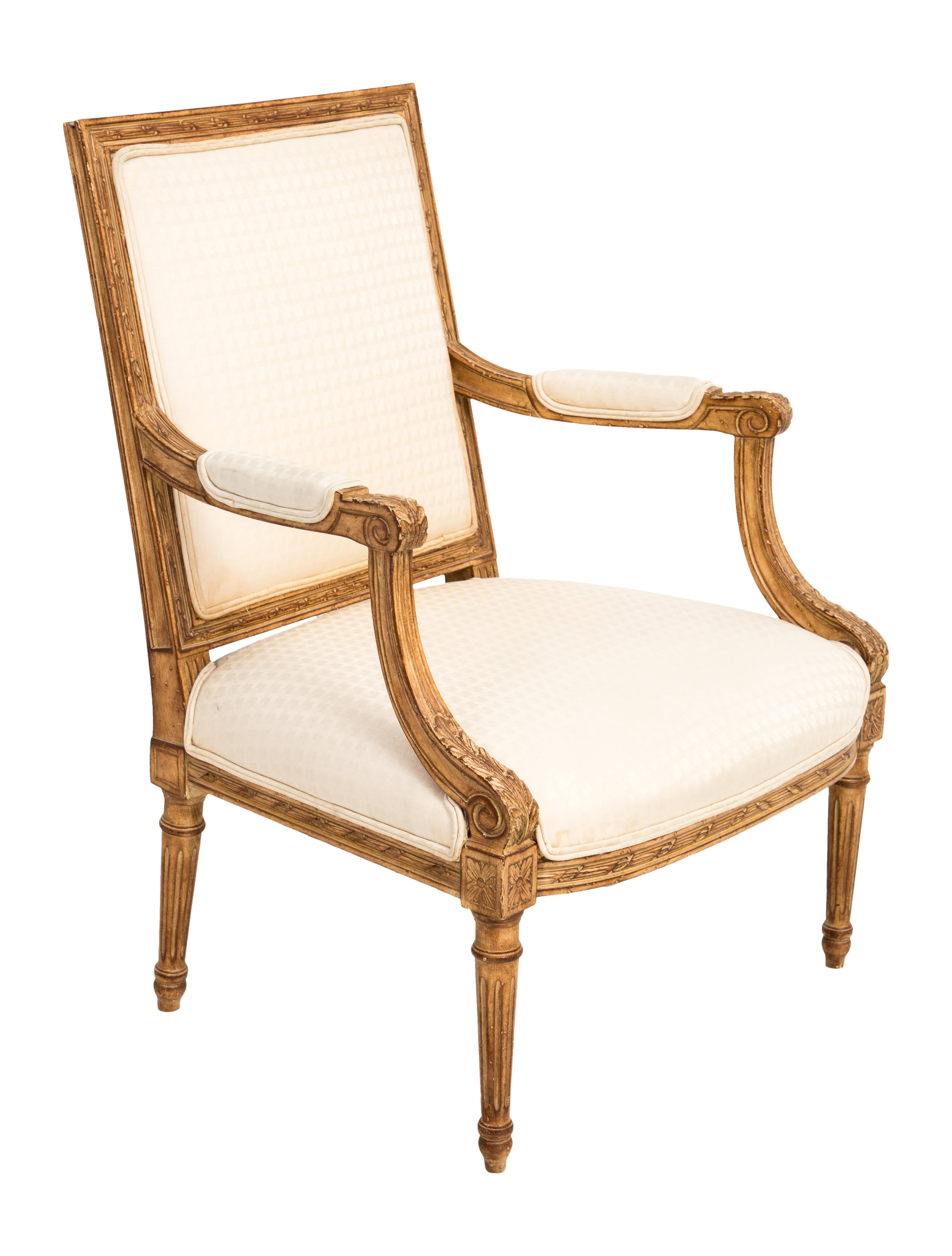 louis xv style upholstered armchair furniture