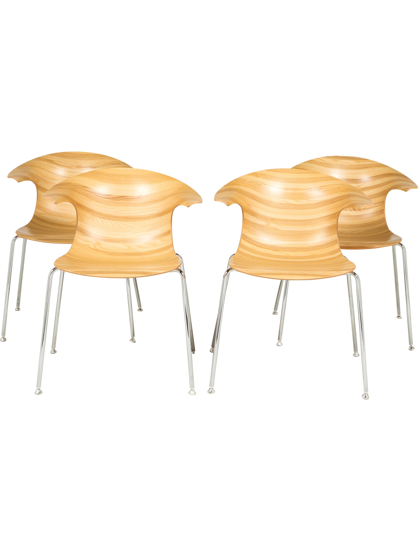 Set of Four Infiniti 3D Vinterio Loop Chairs Furniture