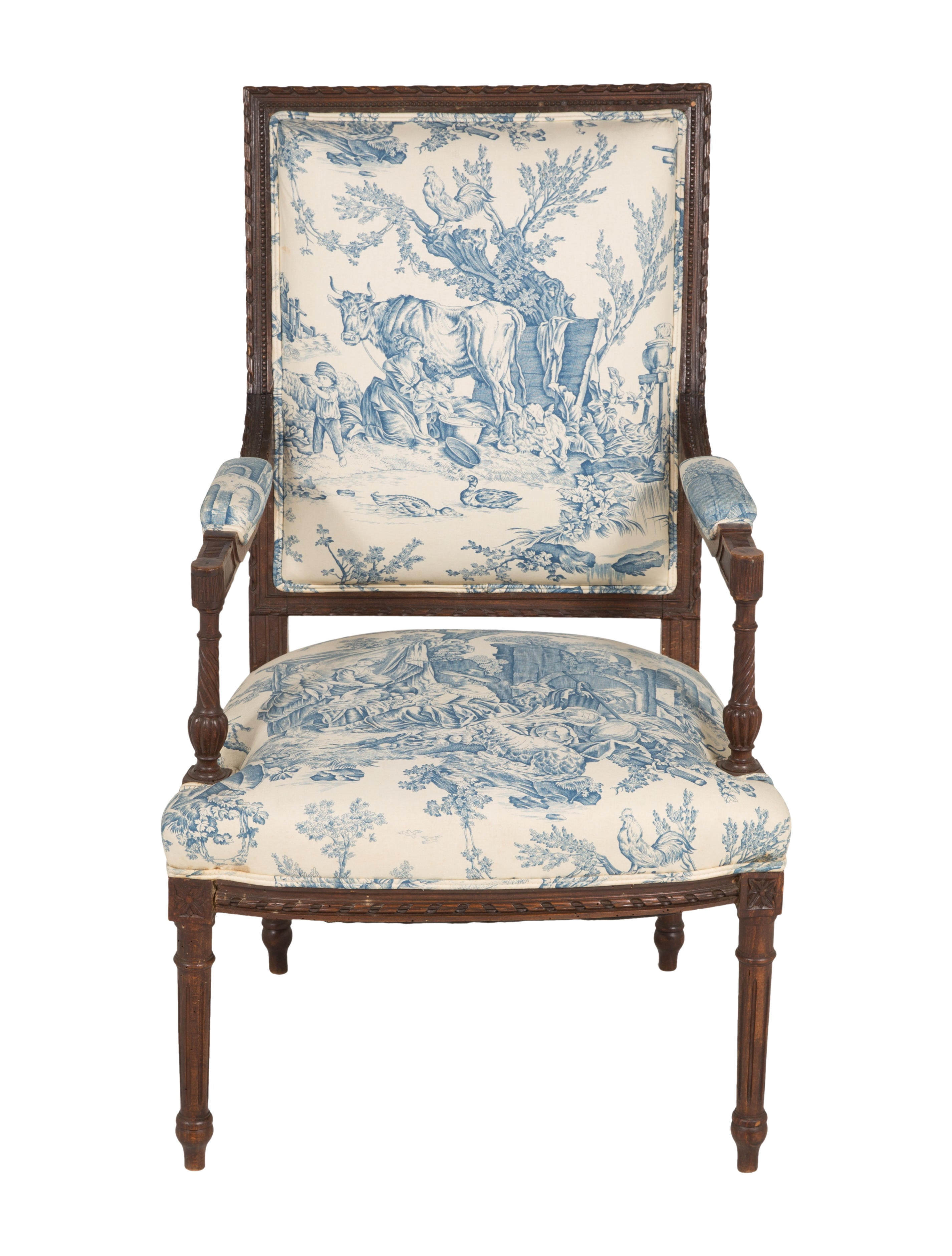 Louis XVI-Style Armchair - Furniture - CHAIR20292 | The ...