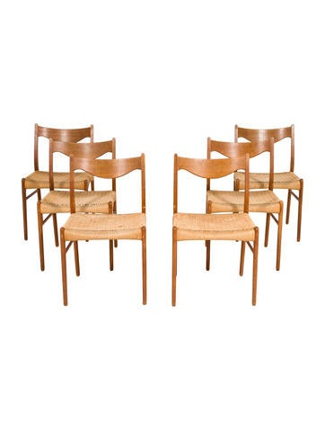 Product Name:Set Of 6 Glyngore Stolfabrik Dining Chairs