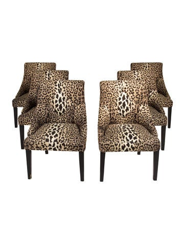 chair leopard print upholstered chairs furniture