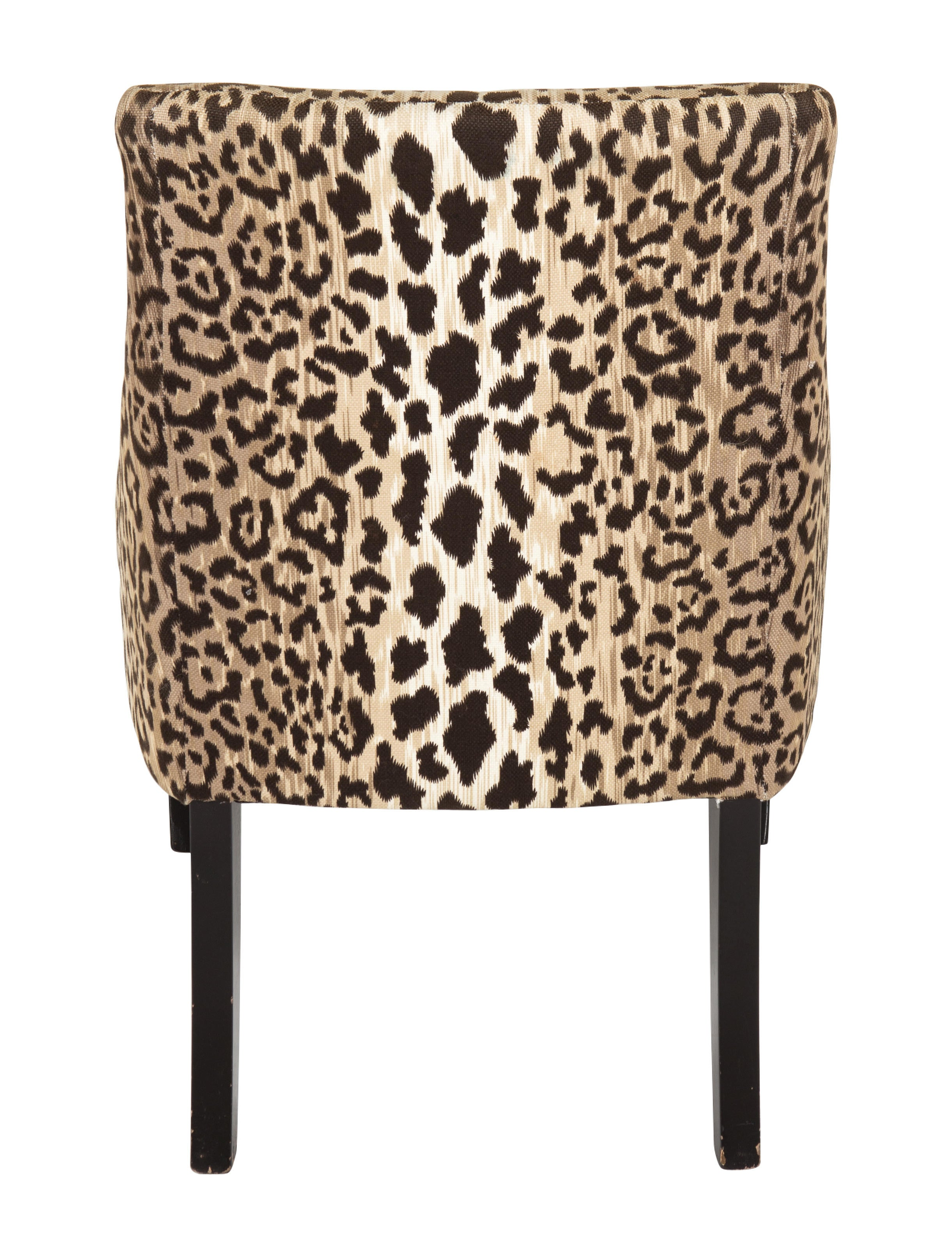 Chair Leopard Print Upholstered Chairs Furniture Chair20342 The Realreal