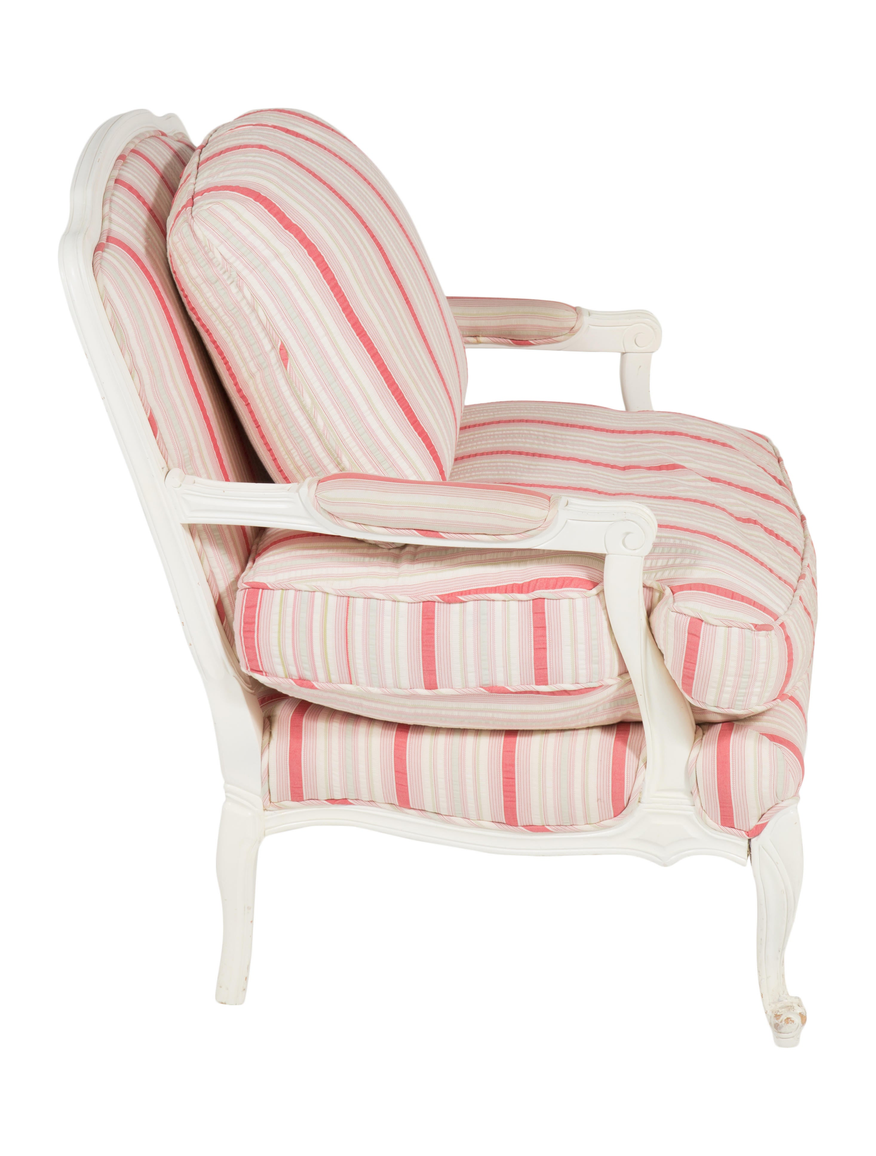 shabby chic upholstered chair - furniture