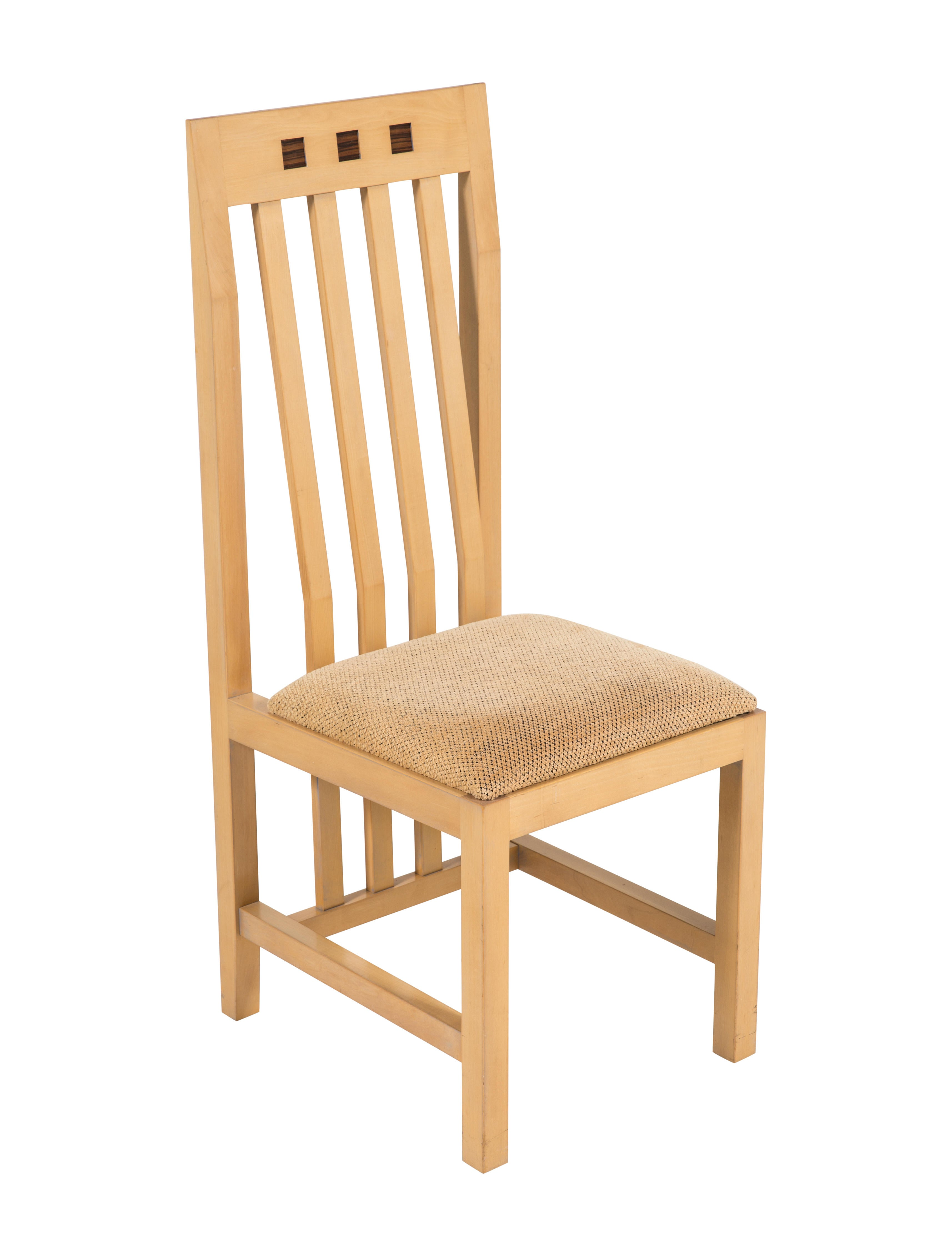 Set of maple dining chairs furniture chair