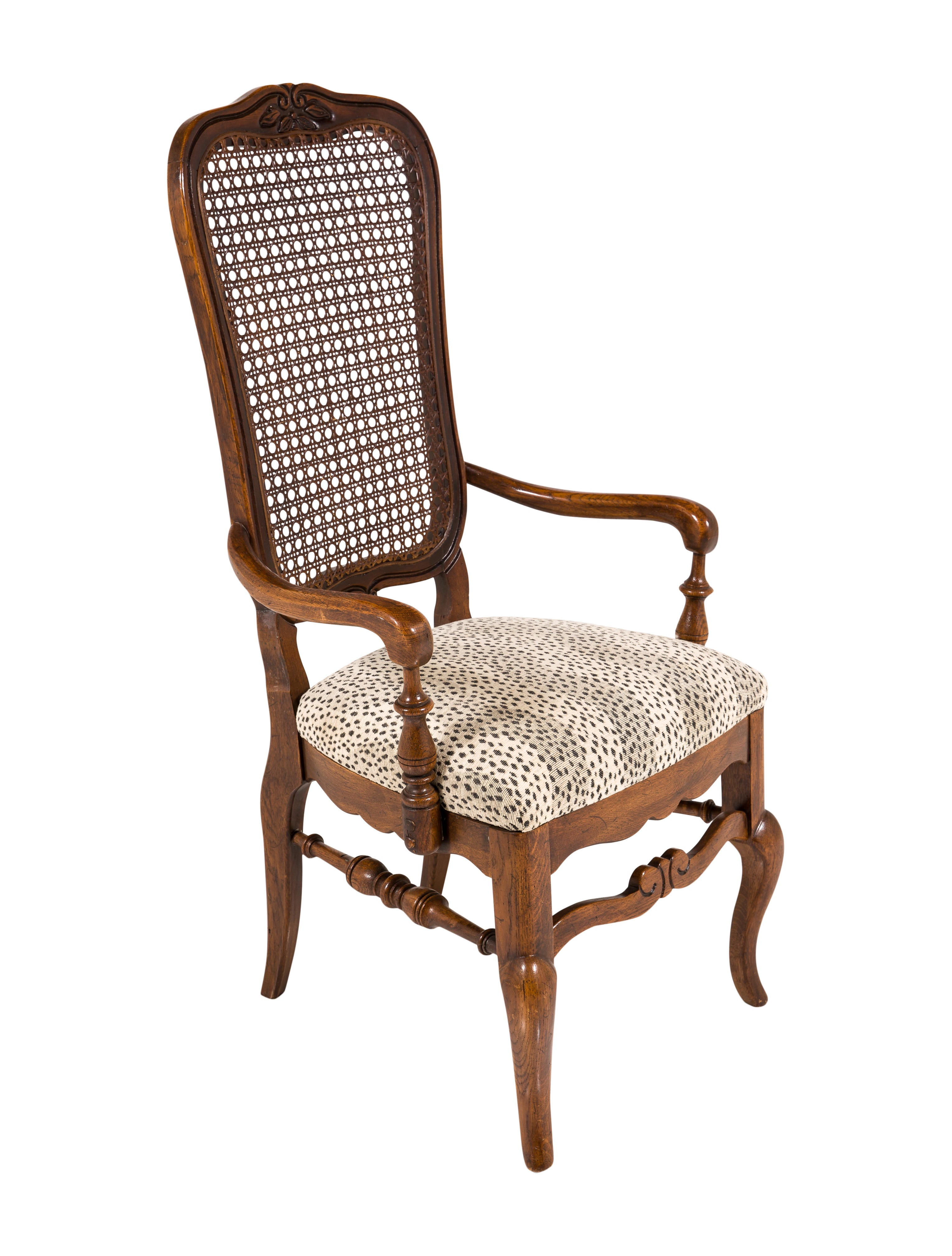 Chair Set of Seven 20th-Century Upholstered Dining Chairs ...