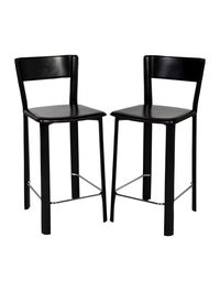 Terrific Chair Pair Of Black Allegro Counter Stools Furniture Pabps2019 Chair Design Images Pabps2019Com