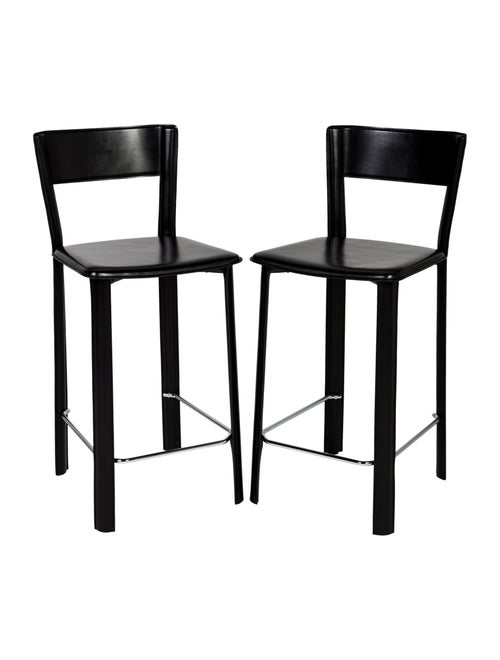 Brilliant Chair Pair Of Black Allegro Counter Stools Furniture Pabps2019 Chair Design Images Pabps2019Com