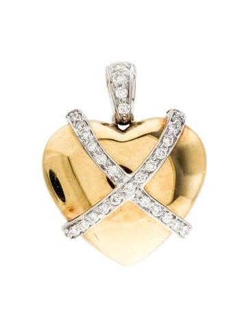 Two-Tone Diamond Heart Charm