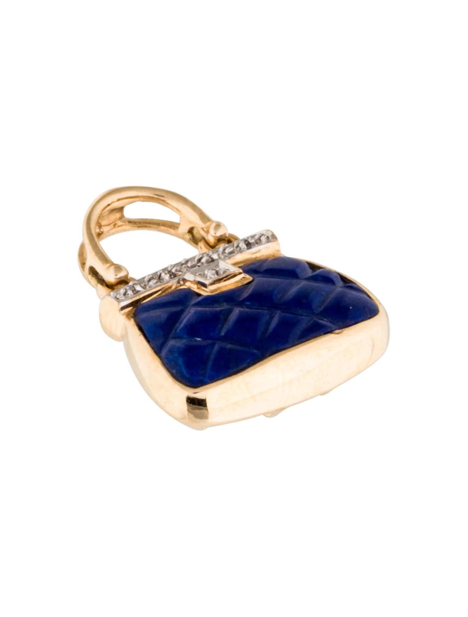 charm 14k laips purse charm charms