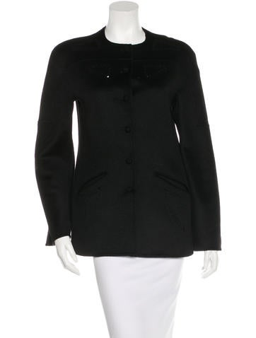 Ralph Rucci Long Sleeve Cashmere Jacket None