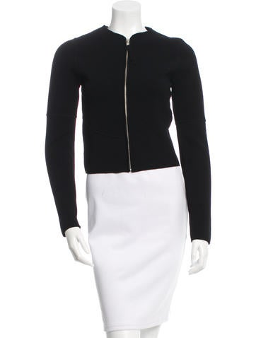 Ralph Rucci Patterned Zip-Up Cardigan None