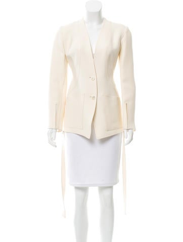 Ralph Rucci Fitted Wool Blazer
