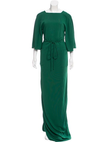 Ralph Rucci Long Sleeve Evening Gown None